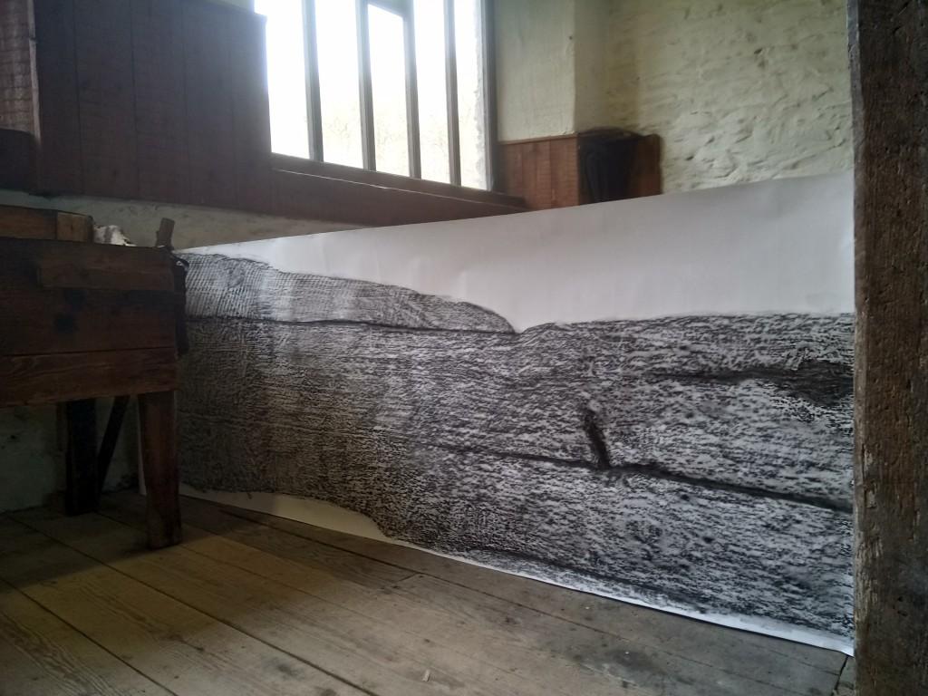 Divider (graphite on paper) - at Stott Park Bobbin Mill, 2019